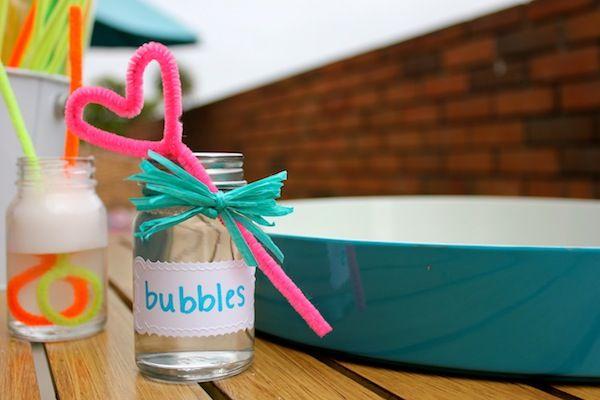 Super-Duper Homemade Bubbles | via The Honest Company blog