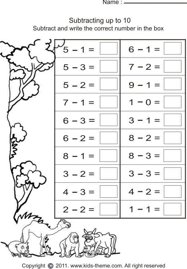 Grade 1 Worksheet Yahoo Image Search Results First Grade Math Worksheets Kindergarten Subtraction Worksheets 1st Grade Math Worksheets