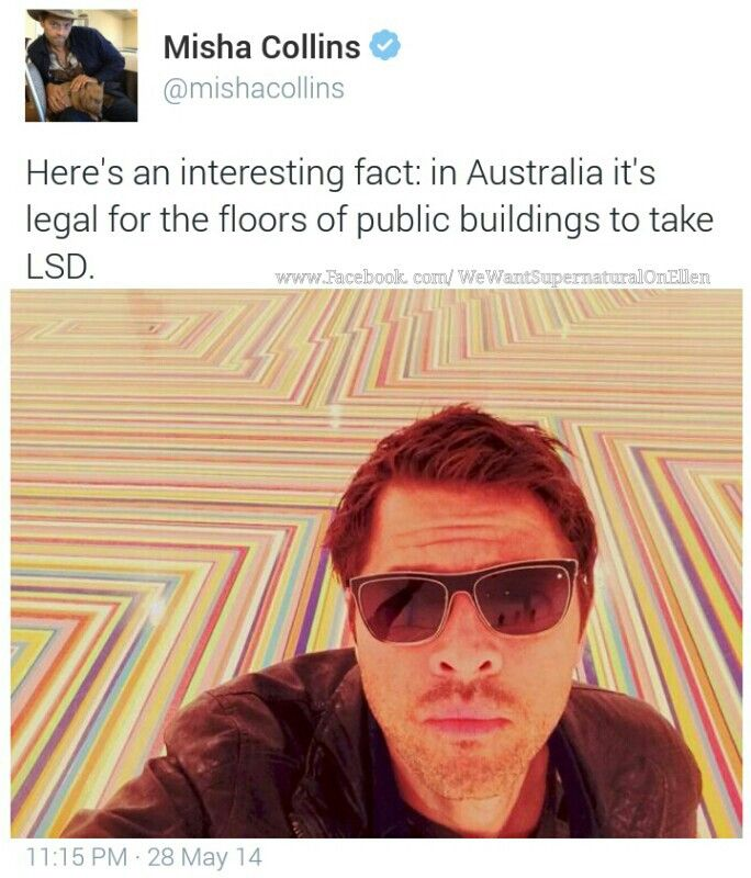 Hipster Misha is all I can think when I see this xD