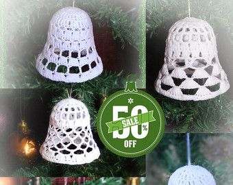 50 % off 5 crochet christmas balls by ZiccaHandmadeCrochet on Etsy