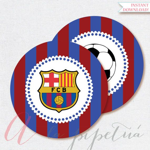 Barcelona printables. Printable Soccer Centerpiece. Barcelona decoration. Barcelona centerpiece. INSTANT DOWNLOAD