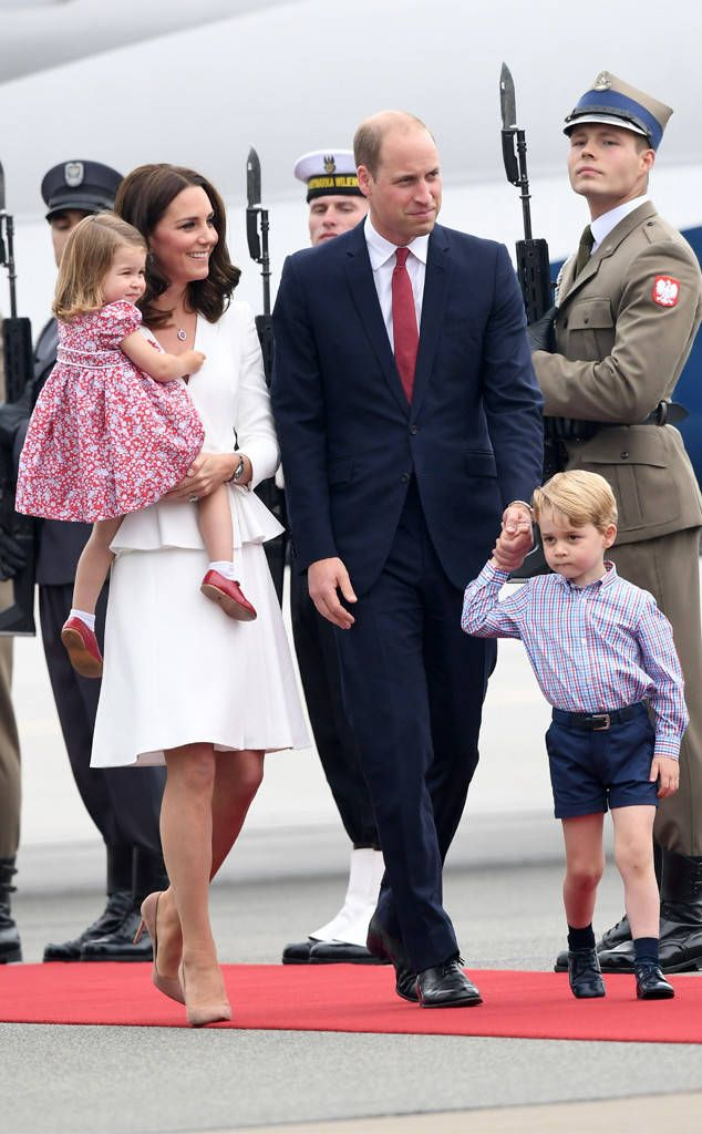 Prince William, Kate Middleton, Prince George and Princess Charlotte Make Their Royal Arrival in Poland