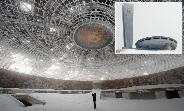 Monument to a troubled past: Inside the enormous crumbling communist HQ Bulgaria cannot afford to maintain or demolish