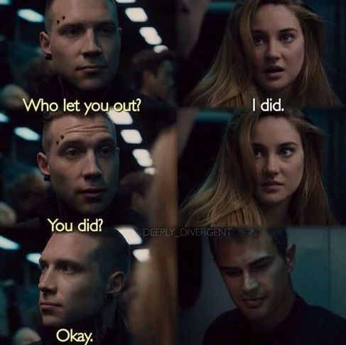 divergent, eric, and four image