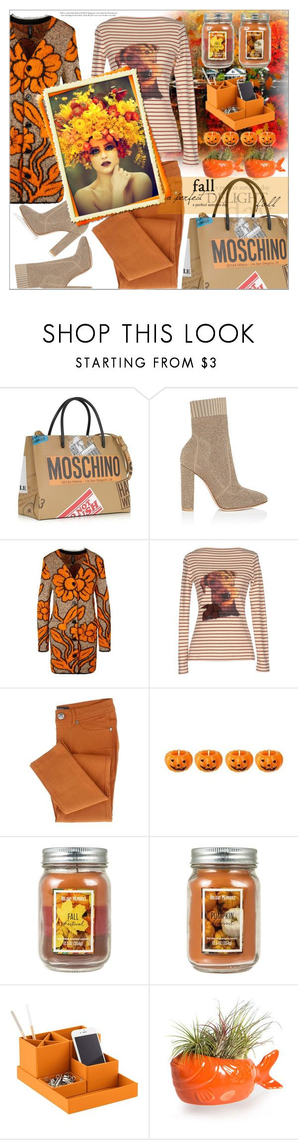 """""""Untitled #137"""" by shewalksinsilence ❤ liked on Polyvore featuring Moschino, Gianvito Rossi, MARC CAIN, Erika Cavallini Semi-Couture, Holiday Memories, Bigso and Hinterland"""