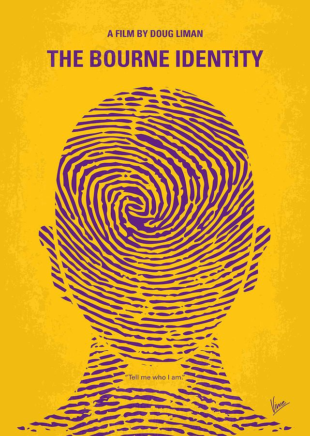 The Bourne Identity (2002) ~ Minimal Movie Poster by Chungkong #amusementphile