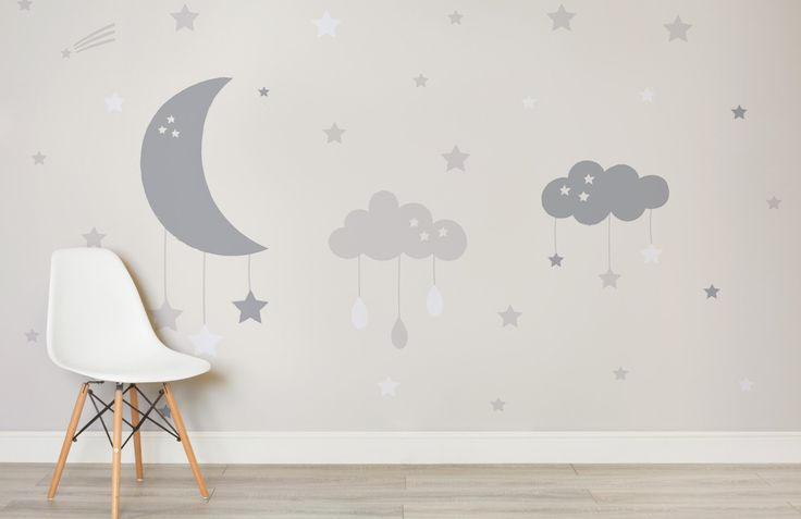 baby-clouds-and-moon-nursery-room