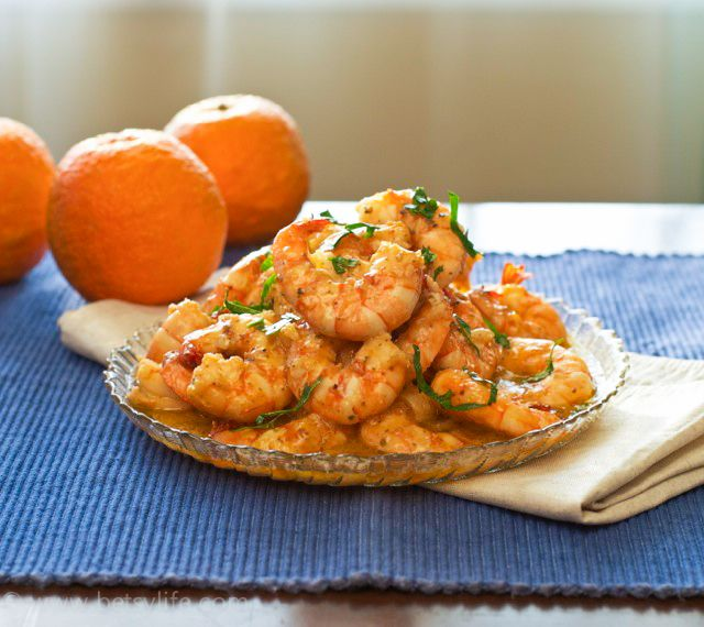 Super flavorful Cuban Mojo Shrimp. Perfect for lent