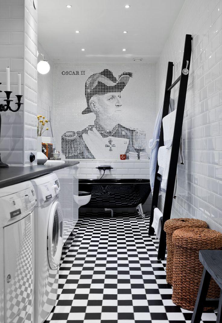 Pampig compact living-etta med stuckatur och franska dubbeldörrar - Sköna hem