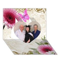 Birthday/graduation/general Heart 3d Card - Heart 3D Just add your own photos.  On Artscow Greeting Card (7x5)