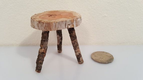Miniature Tree House furniture, browse it on Etsy