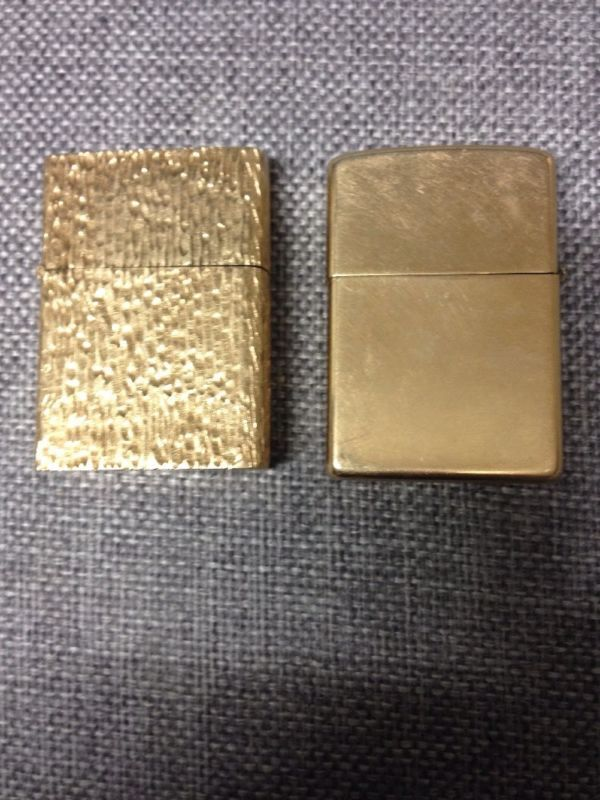2 X 14k Solid Gold Zippo Lighters