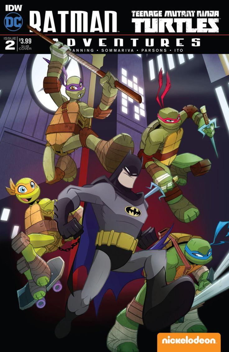 DC Comics/IDW - Batman Teenage Mutant Ninja Turtles Adventures #2 - Subscription Cover B