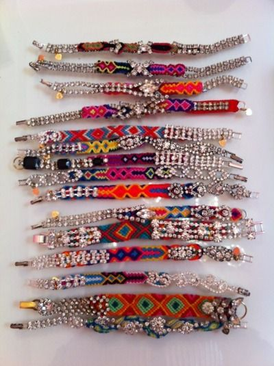 rhinestone & weaves...: Best Friends, Boho Accessories Diy'S, Diy'S Friendship, Friendship Bracelets Becaus, Costume Jewelry, Boho Friendship Bracelets, Bling Bling, Woven Bracelets, Diy'S Bracelets
