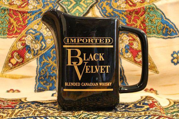 Black Velvet Whiskey Pitcher Black Velvet Whisky Pitcher
