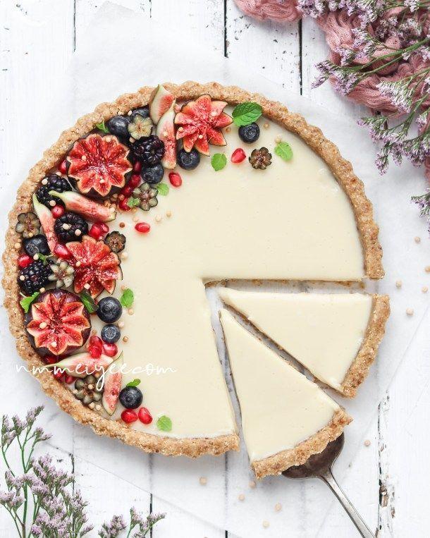 No-Bake white chocolate ganache tart (Vegan, gluten free) | nm_meiyee – Dessert Recipes