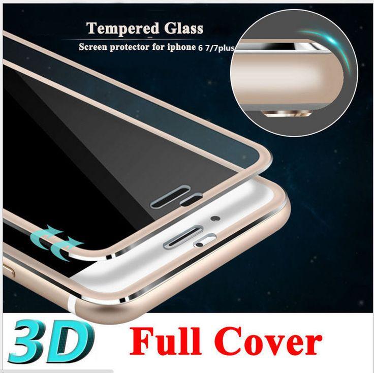 3D Curved Edge Clear Tempered Glass Full Coverage For iPhone 7 7 Plus Titanium Protective Film Screen Protector For iPhone 6 6s ** Encontrar más información haciendo clic en la imagen
