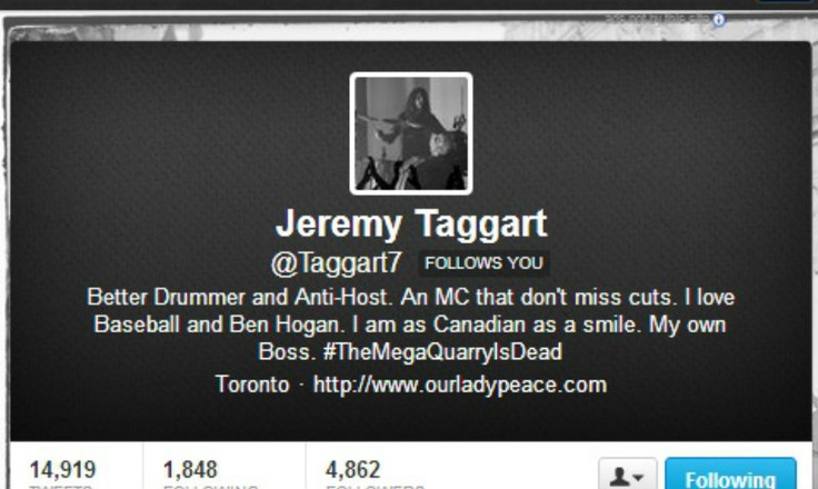 And he's also following me on twitter which is awesome!