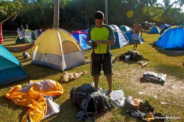 Camping in Tayrona National Natural Park, Colombia