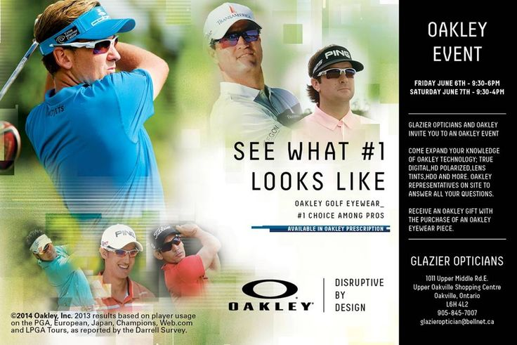 Glazier Opticians Annual Oakley Event June 6th & 7th #Oakville #ShopLocal
