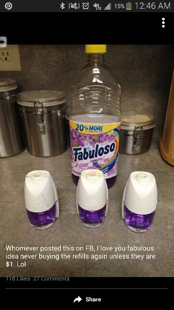 Glade Plug-In refills used with Fabuloso! Smaaaaaart!