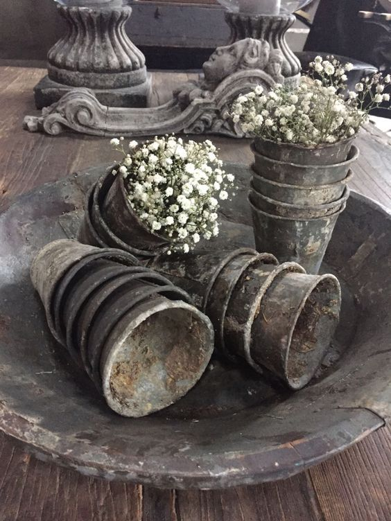 French zinc pots.