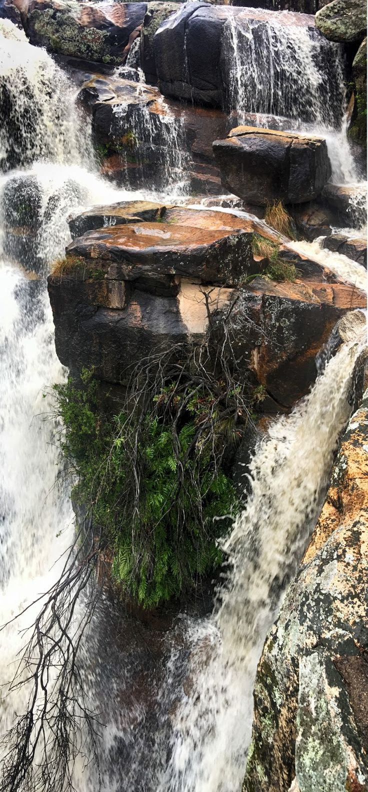 """Orphaned Rock Flooding rains struck Canberra today with up to 150mm (6"""") in an hour or so in some places. I headed to nearby Namadgi National Park to ca... - Peter Quinton - Google+"""