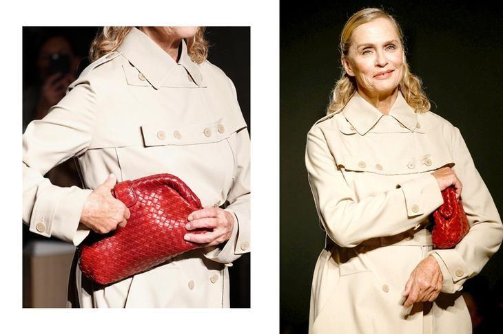 Лорен Хаттон на показе Bottega Veneta