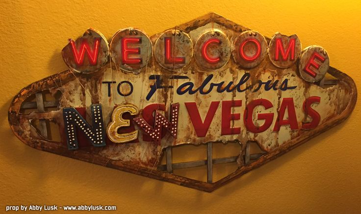 Fallout New Vegas sign.  By Abby Lusk.