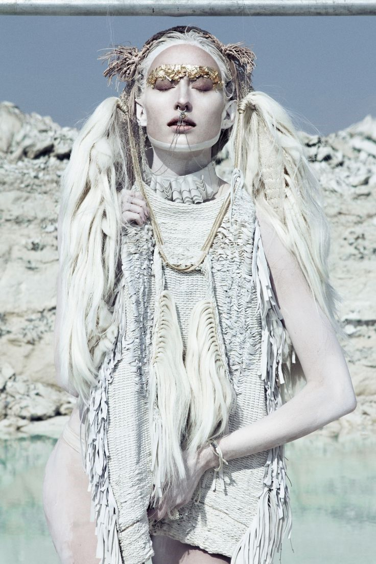 On the blog today - Mood Board: White. #desert #fashion #hair #gold #editorial
