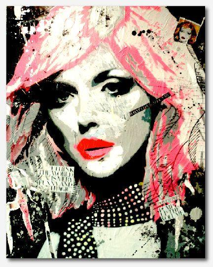 Modern Pop Art Painting of Sophie Dahl par Unikartist sur Etsy, $1000.00