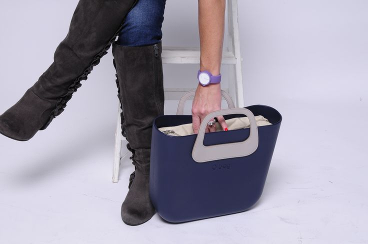 O Bag Body - Navy Blue OBDY60 Oblo Eco Leather Handle - Natural OBMBHO01 Canvas Inner Bag - Natural OBCV01