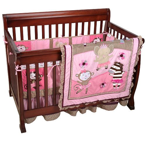 Ballerina themed baby girl room. (How cute is a monkey ballerina?!)