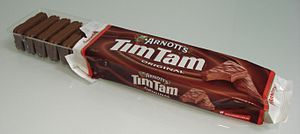 YOU HAVEN'T LIVED UNTIL YOU TRY A TIM TAM SLAM!!! Bight off both ends of your Tim Tam biscuit and suck your Tea/Coffee or Hot Chocolate through it. You'll be in heaven