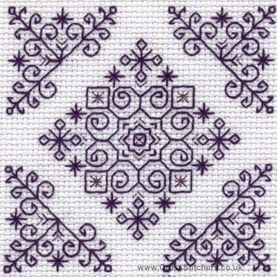 blackwork embroidery free patterns | diadem holbein embroideries blackwork kit this blackwork kit is ...