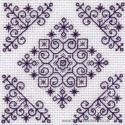 blackwork embroidery free patterns | diadem holbein embroideries blackwork kit this blackwork kit is ...