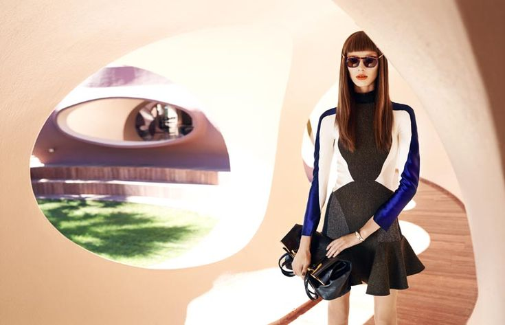 Olga Sherer (not looking very much like herself) in Stella for Elle France, Lensed by Marcin Tyszka