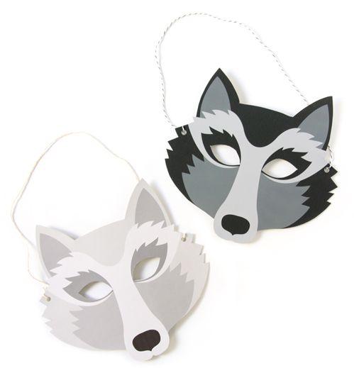 Wolf masks  zü: D.I.Y spécial peur du loup !