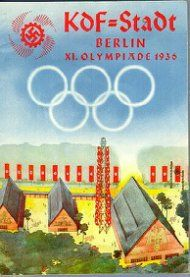 Cartel de la KdF anunciando los Juegos Olímpicos de 1936 en Berlín (© DHM, Berlín)
