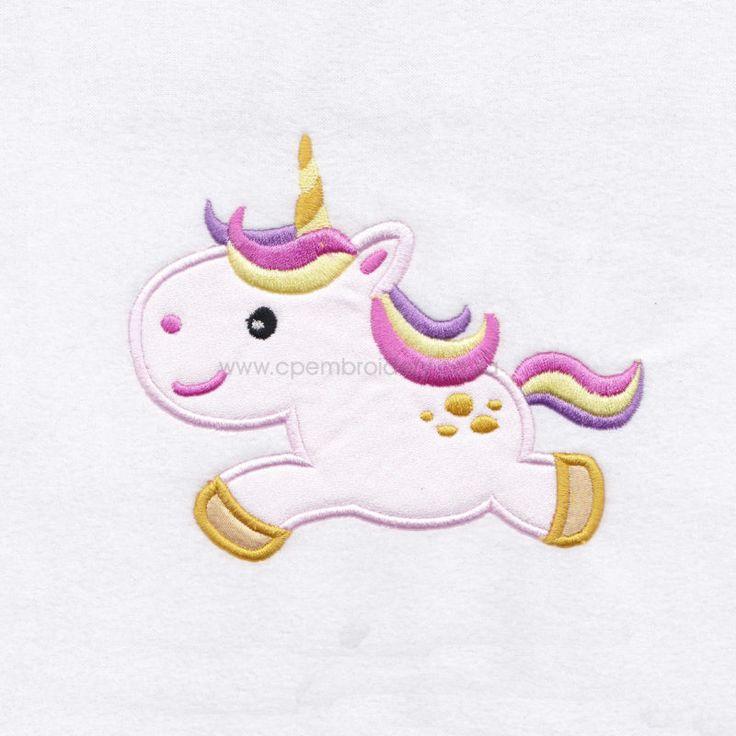 Unicorn No 1  Appliqué