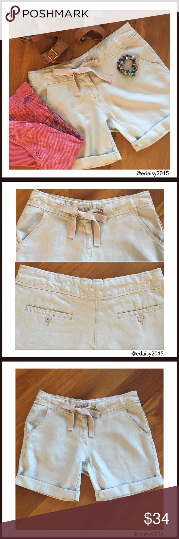 🔴DISCOUNTED SHIPPING-RED DOT SALE🔴 Linen Shorts These Willi Smith linen bermuda shorts are so comfortable. They are size 4, the color is Khaki. I've worn them a couple of times, they're  like new.   👛 No Trade 🌸 All Offers 🌸 Click The Offer Button 🌷 Smoke Free Home  💕 Have a great day, Darla Willi Smith Shorts Bermudas