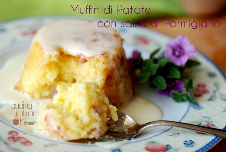 Muffin di patate con salsa al parmigiano