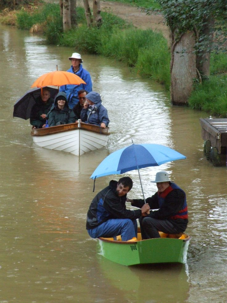 Having fun in the rain at a small boat rally on the Wey & Arun canal near Loxwood, West Sussex