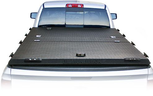 DiamondBack truck bed covers with Rugged Black finish