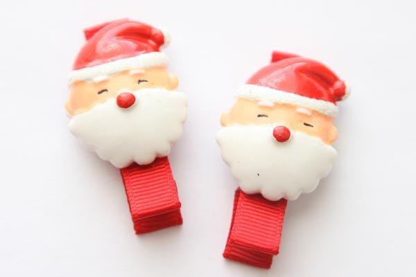 Christmas Resin Clips - Large Santa