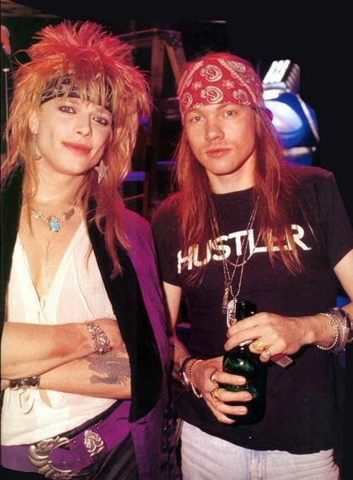 Axl Rose with Michael Monroe (Hanoi Rocks Vocalist)