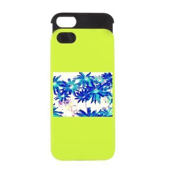 Blue flowers iPhone 5/5S Wallet Case
