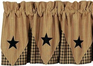 Pattern For Country Stars | IHF Midnight Curtains And Kitchen Decor |  Primitive Home Decors In