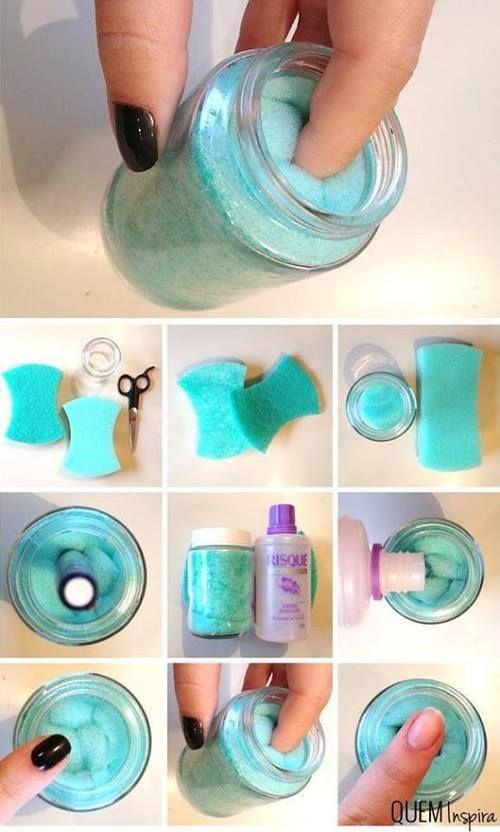 DIY nailpolish remover in a jar
