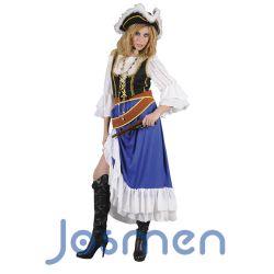 Disfraz Pirata Mary: La piratería ha sido una plaga en el mar de Japón, lo sigue siendo en el de la China meridional y en los archipiélagos de Indonesia. http://www.disfracesjosmen.es/146-disfraz-pirata-mary.html
